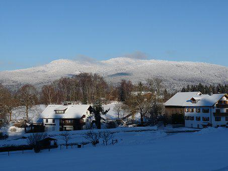 Winter, Snow, Bavarian Forest, Holiday, Landscape