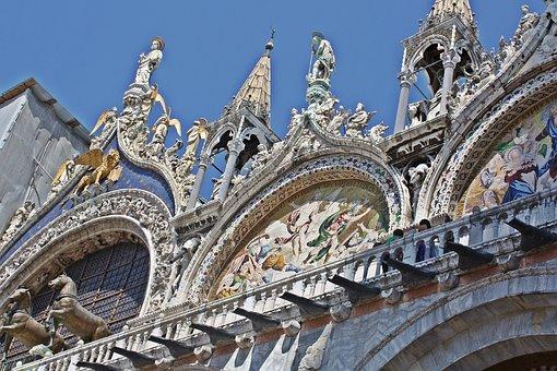 Basilica Of St, Brand, Venice, The Basilica, Sculpture