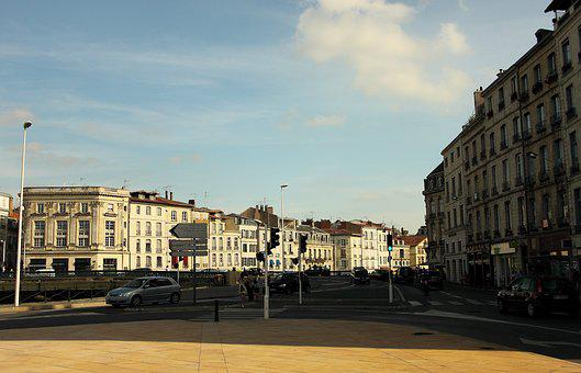 Road, France, Homes, Facade, Architecture