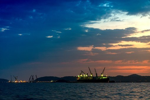 Sunset, Industry, Industrial, Sky, Business, Technology