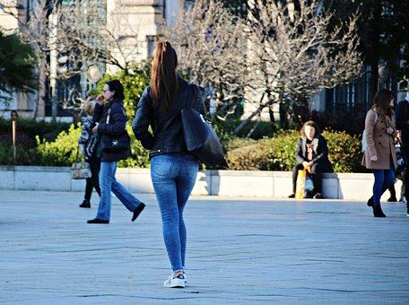 Young Woman, Legs, Charm, Body, Long Hair
