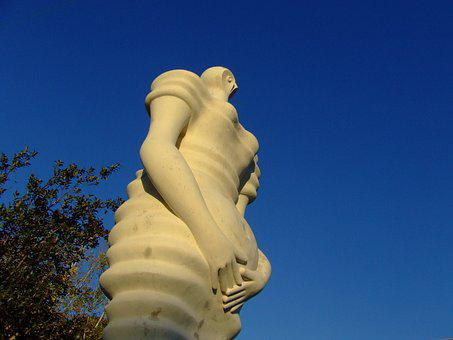 Statue, Street, Pregnancy, Mouth Of The Fig Tree