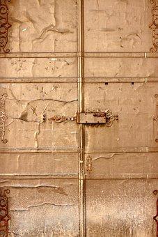 Door, Copper, Door Handle, Input, Handle, Entry, Old