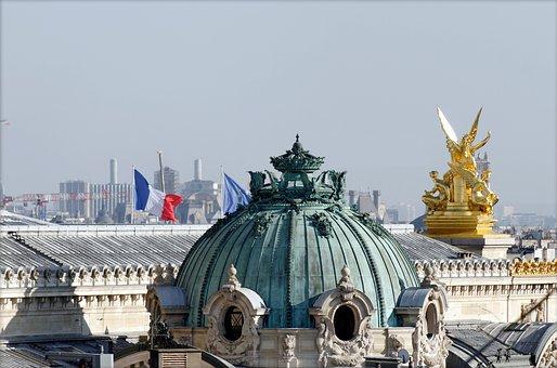 Paris, Roofs, Fireplaces, Tourism, Paris Opera, Dome