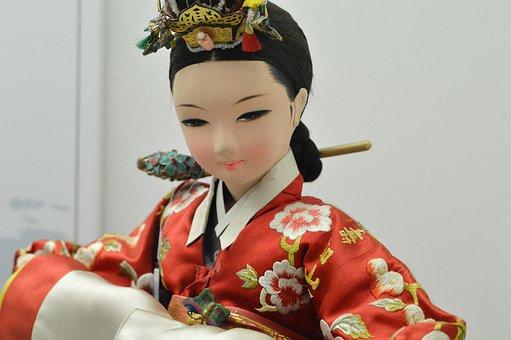 Korea National, Traditional Clothing, Doll
