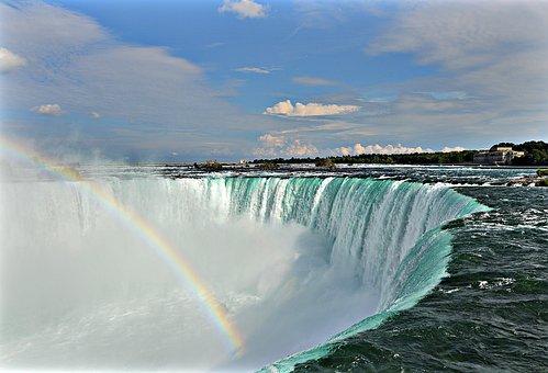 Niagara Falls, Water, Waterfall, Canada, Water Masses