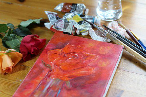 Oil Painting, Art, Art Materials, Oil, Canvas, Painting