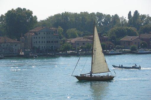 Venice, Boat, Vela, Boats, Holiday