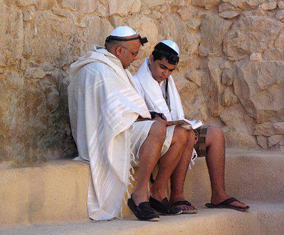 Judaism, Masada, Israel, Religion, Father And Son