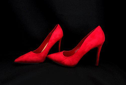 Graphic, High Heels, Red, Shoes, Female, Clothing