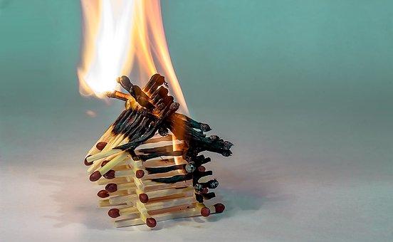 Fire, Matchstick House, House Of Matchsticks