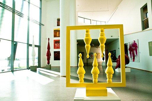 Interior, Gallery, Art, Light, Exhibition, Art Gallery