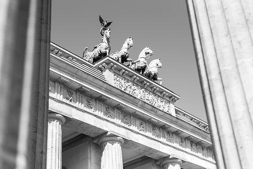 Brandenburg Gate, Quadriga, Berlin, Landmark, Goal