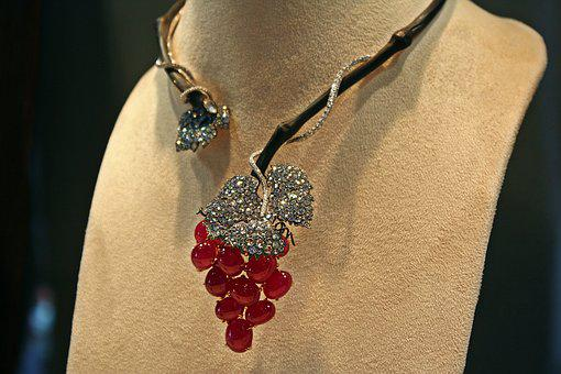 Necklace, Ornament, Jewelry, Gems, Crystals, Silver