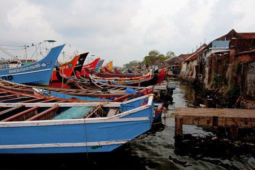 Boats, South India, Fischer, Fishing