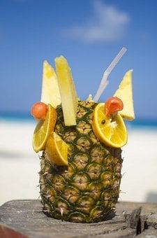 Pineapple, Beach, Summer, Vacation, Tropical, Holiday
