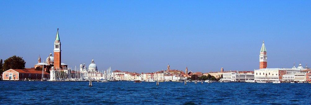 Italy, Venice, City, Water, Building, Sky