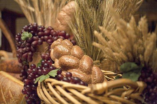 Bread, Wheat, Grapes, Bountiful