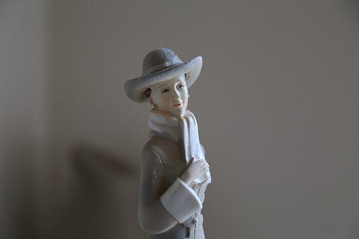 Lady, Ms, Woman, The Figurine, Porcelain, Delicate