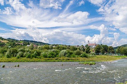 River, Landscape, Mountains, Nature, Dynamism, Drama