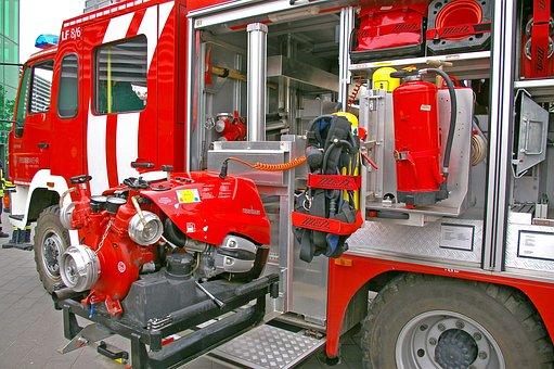 Fire, Firefighters, Fire Truck, Volunteer Firefighter