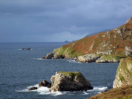 Ireland, Irish, Seascape, Headland, Water, Ocean