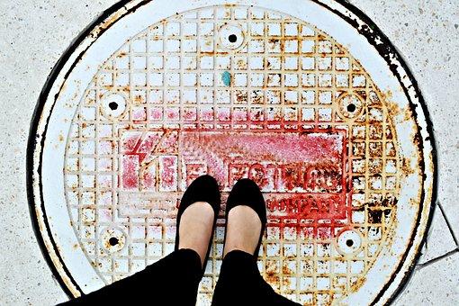 Legs, Shoes, Feet, Walking, People, Woman, Person