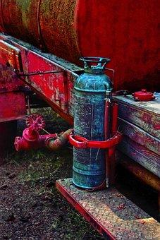 Fire Extinguisher, Antique, Red, Old, Vintage, Aged