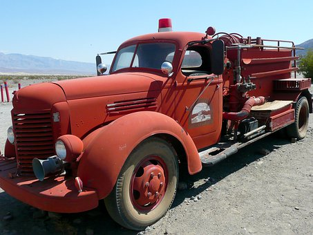 Firetruck, Vehicle, Rescue, Old, Red, Emergency