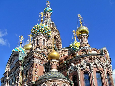 Russia, Saint Petersbourg, Cathedral