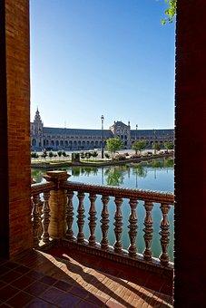 Plaza De Espania, Seville, Palace, Spanish, Historic
