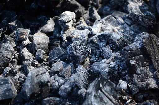 The Ashes, Coals, Carbonized, Burnt Wood