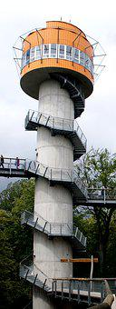 Tower, Treetop Path, View, Thuringia Germany