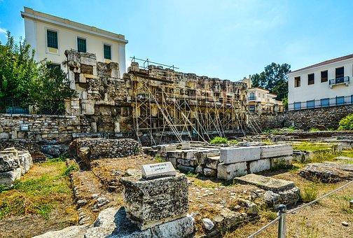 Athens, Greece, Ruins, Greek, Ancient, Agora, History