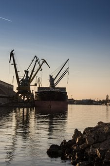 Port, Loading, Discharging, Ship, Cargo, Transportation