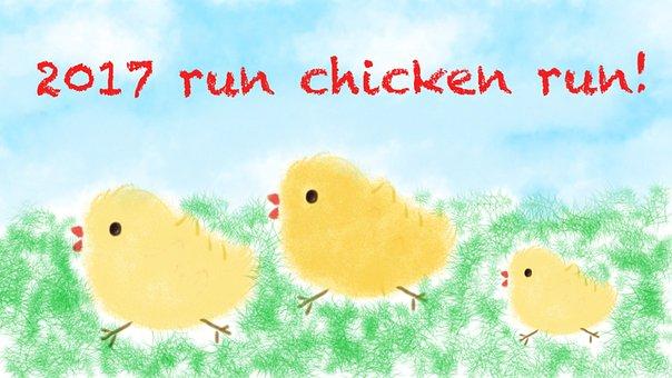Chicken, Doodle, Cartoon, Hen