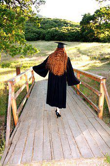 Graduate, Graduation, Walking Away, Education, Cap