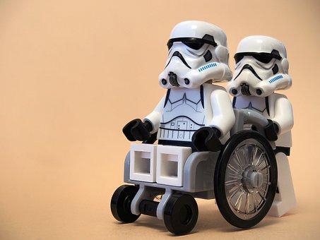 Wheelchair, Stormtrooper, Lego, Healthcare, Casualty