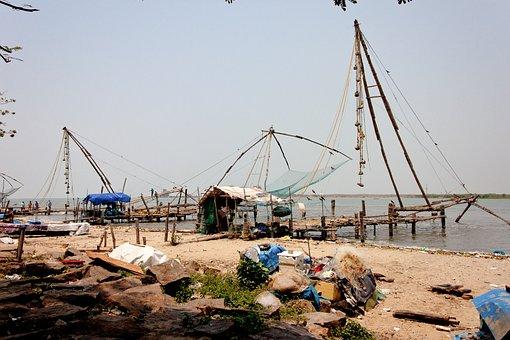 Kerala, Cochi, Fischer, South India, Fishing Net