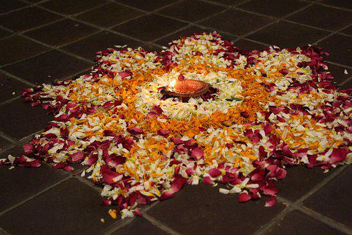 Rangoli, Stones, Mandala, Om, Design, Pattern, Motif