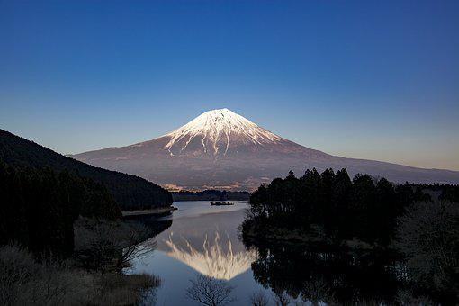 Mt Fuji, Fuji, Lake Tanuki, Japan, Mountain, Landscape