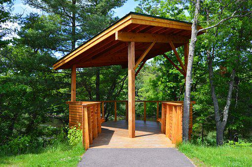 Kiosk, Nature, Cedar, Trial, Rest, Booth, Outdoor