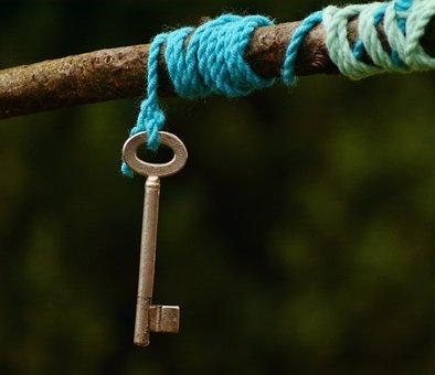 Key, Cord, Symbol, Symbolism, Knot, Pull Together