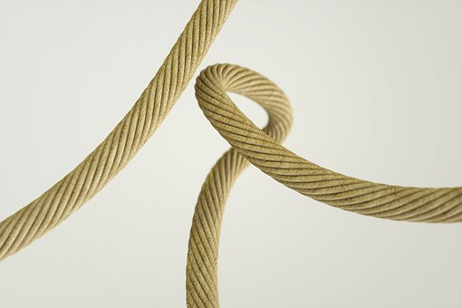 Ropes, Rope Detail, Knot, Loop, Natural, Fiber