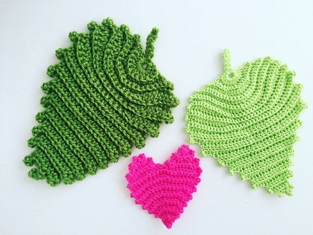 Crochet Patterns, Crochet, Heart, Yarn, Leaf, Wool