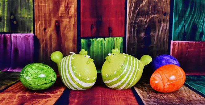 Chickens, Easter, Egg, Easter Eggs, Colorful Eggs