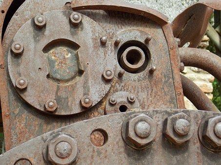 Machinery, Engine, Machine, Industry, Industrial, Metal