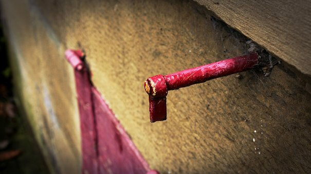 Hook, Red, Sand Stone, Hauswand, Old, Broken, Window
