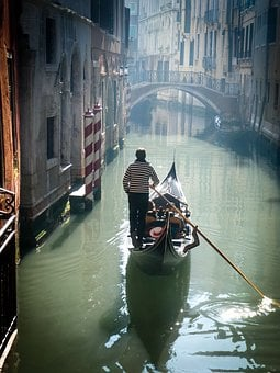 Gondola, Venice, Italy, Canal, Romantic, Italian