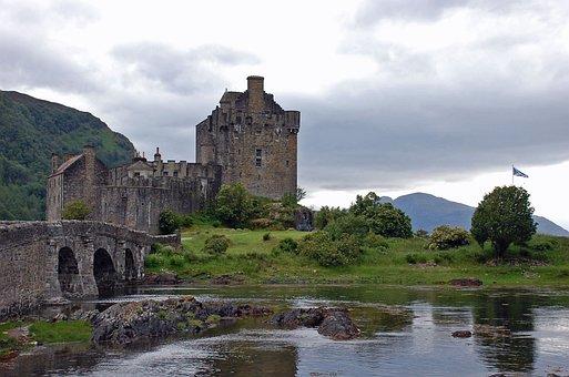 Castle, Bridge, Scotland, Travel, Landmark, Tourism
